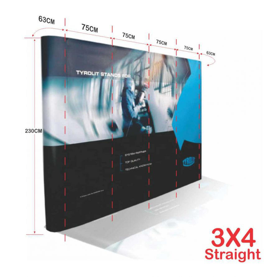 Backwall Straight Cetak Poster X Banner Roll Up